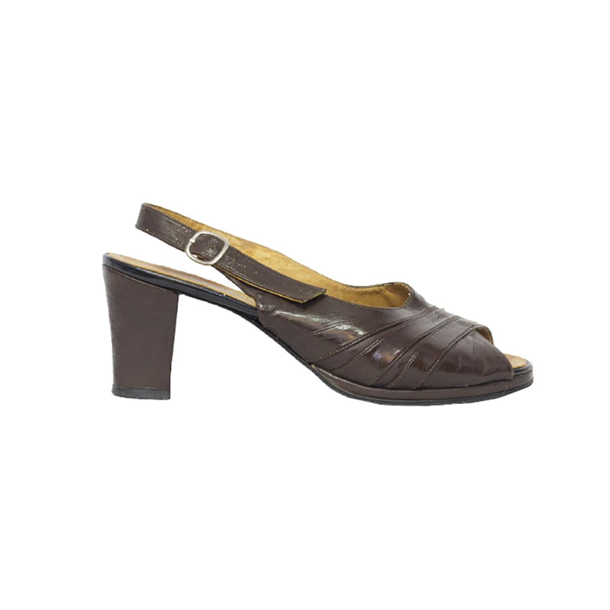 Aida, kotimaiset ruskeat sling back -sandaletit - 3