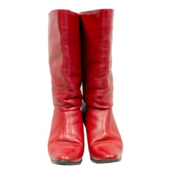 Janita, punaiset nahkasaappaat - 4,5