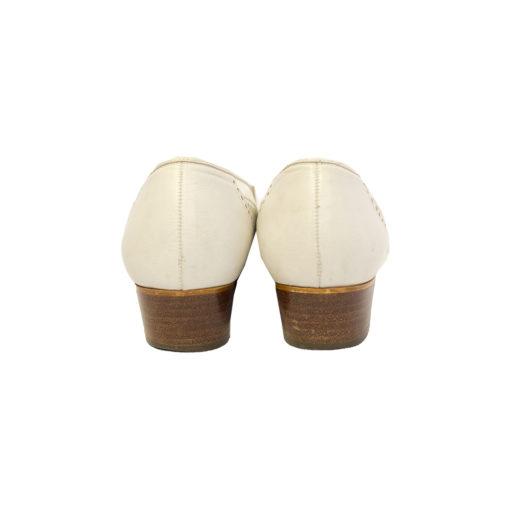 Jenny by Ara, valkoiset loaferit 70-luvulta - 4,5
