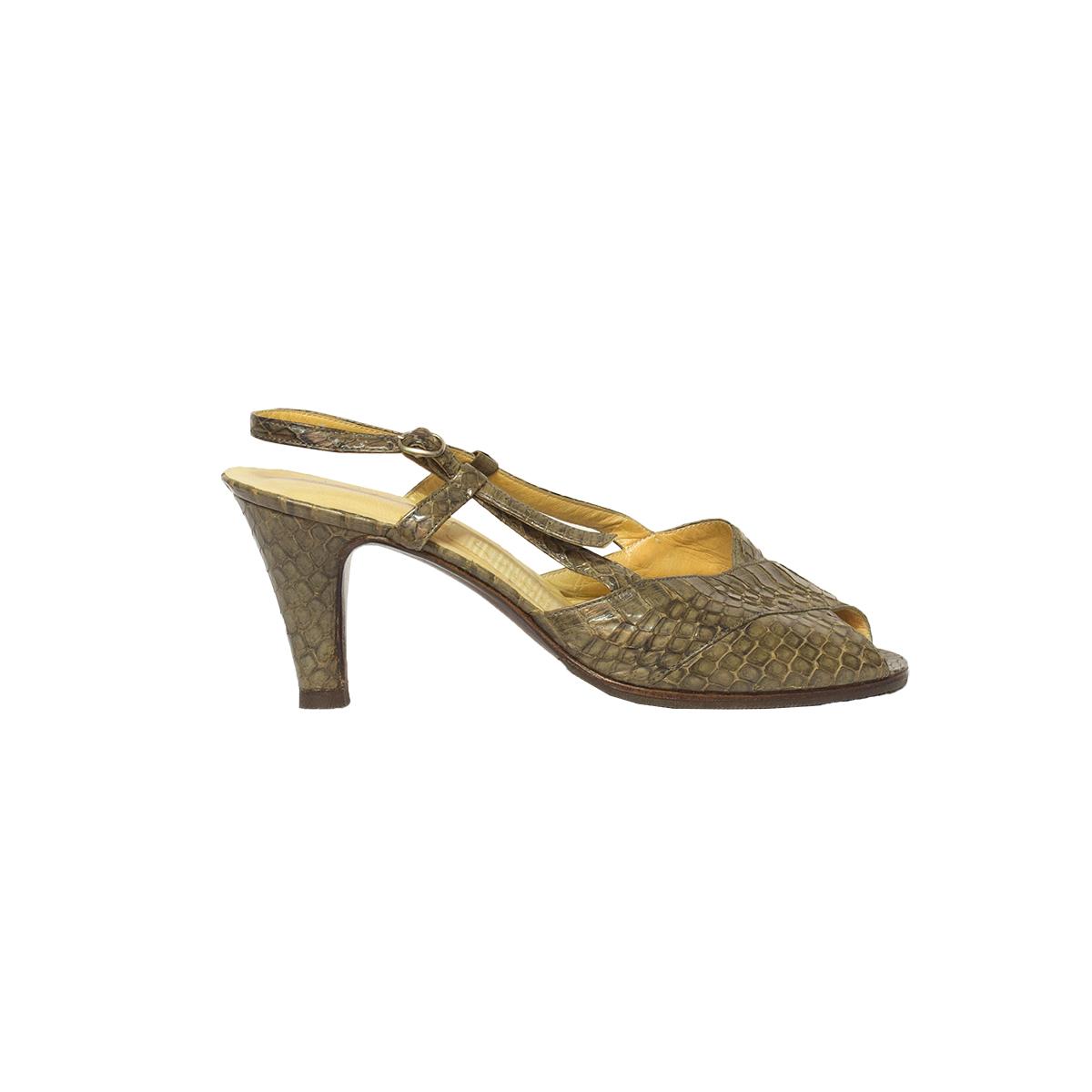 Käärmeennahka-sandaletit 50-luvulta - 3,5