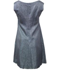 hopeanvärinen mekko